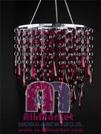 Acrylic Beaded Chandelier AMN828L