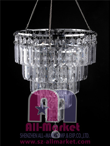 Acrylic Beaded Chandelier AMN928-3
