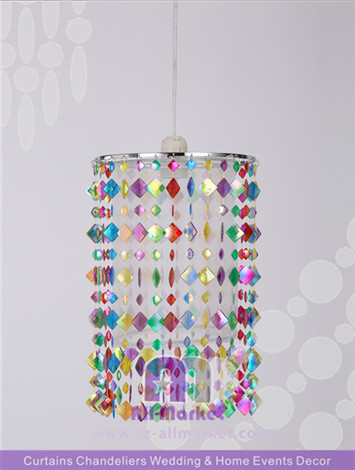 Colored Beads Chandelier