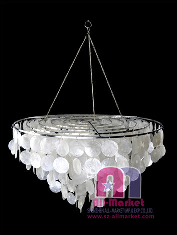 Shell chandeliers capiz shell chandelier lighting oyster shell capiz shell lamps am055ll 1 aloadofball Choice Image