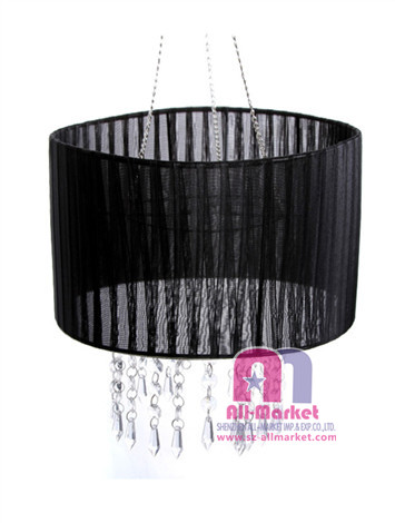 Black Voile Lampshade AMN1025