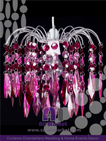 Pink Crystal Chandelier AMC235LIM