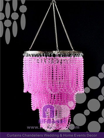 Hanging  Pink Crystal Chandelier AMC2250DL-2