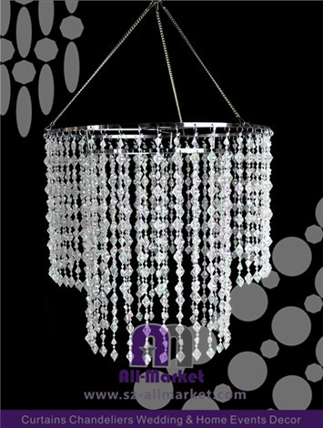 Clear Plastic Chandelier AMC2339LK
