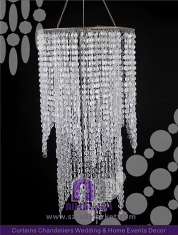 Clear Plastic Chandelier AMC2409ALA
