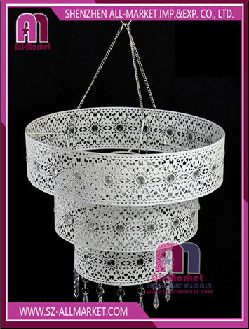 White Hollow Out Metal Chandelier LT1670
