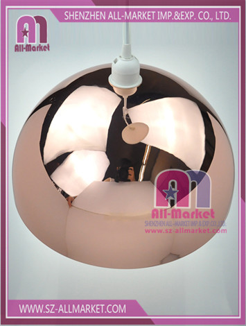 Metal Pendant Lamp Shade Rose AMN1250BRG