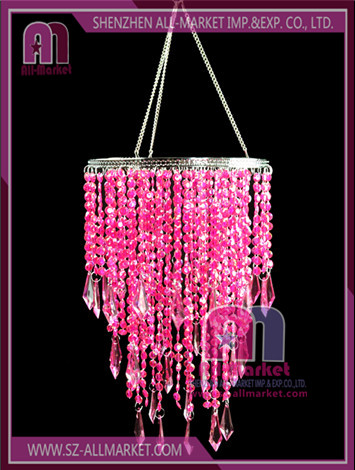 Red Beaded Chandelier AMD138LB-1