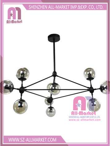 Glass Chandelier Lighting 10 Bulbs Lily Multi Head