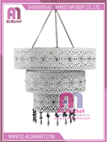 White Hollow Out Metal Lamp Shades LT1670
