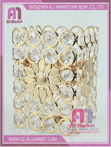 Crystal Beaded Candle Holder AMN1022-3