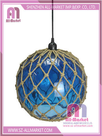 Hemp Rope Glass Lamp Shade LG1571C