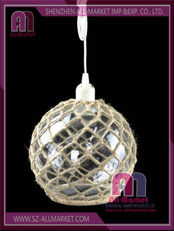Hemp Rope Glass Lamp Shade LG1571B