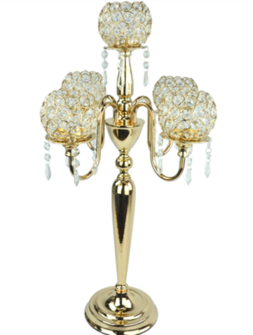Five Arms Beaded Crystal Candelabra