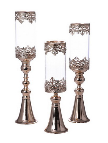 Glass Candle Holder Set ZSG17726