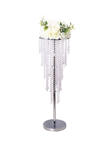 Elegant European Style Crystal Wedding Pillar Decoration